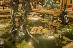 喷泉雕塑 库存图片