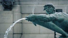 喷泉雕象特写镜头 股票录像