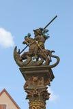 喷泉雕象 库存图片