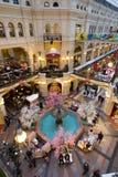 喷泉顶视图在胶购物中心的在红场 免版税图库摄影