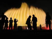 喷泉魔术 免版税库存照片