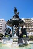 喷泉,乔治Square,帕特雷,希腊国王 库存照片