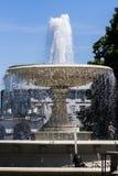 喷泉,华沙波兰 免版税库存图片