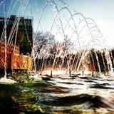 喷泉,小河 库存图片