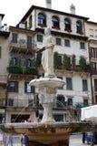 喷泉,玛丹娜广场delle erbe 免版税库存照片