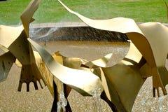 喷泉, Te Awamutu,新西兰, NZ, NZL细节在Te Awamutu玫瑰园的 库存照片