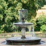 喷泉从18世纪在波茨坦 免版税图库摄影