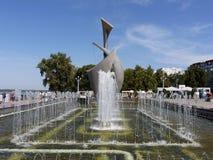 喷泉`在翼果的风帆` 免版税图库摄影