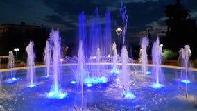 喷泉水天空 库存照片
