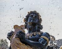 喷泉细节到位de la协和飞机 库存照片
