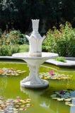 喷泉 Nikita植物园 克里米亚,雅尔塔 免版税库存照片