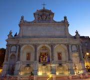 喷泉Acqua Paola在罗马 库存图片