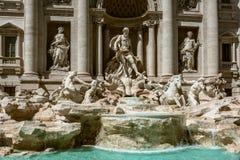 喷泉de Trevi,罗马 图库摄影
