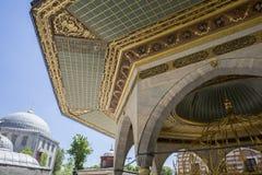 喷泉Decoraion在Haghia索菲娅博物馆,伊斯坦布尔 库存照片