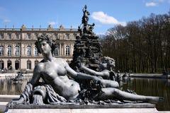 喷泉herrenchiemsee雕象 免版税库存图片