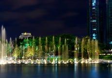 喷泉klcc吉隆坡 库存照片