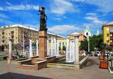 喷泉krasnoyarsk俄国themis 免版税库存图片