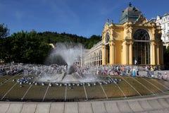 喷泉lazne marianske唱歌 免版税图库摄影