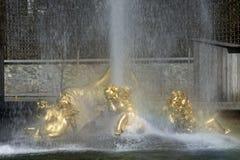 喷泉linderhof宫殿 免版税图库摄影