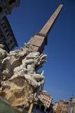 喷泉navona广场 库存图片