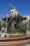 喷泉neptunbrunnen海王星 免版税库存图片