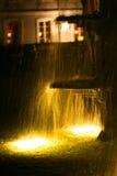 喷泉nightime 图库摄影