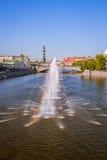 喷泉Obvodnoi运河在莫斯科 库存照片