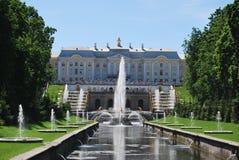 喷泉peterhof 库存图片