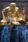 喷泉petersburgh petrodvorets圣徒 库存照片