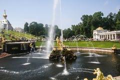 喷泉Samson 免版税库存图片