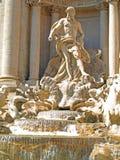 喷泉trevi 库存图片