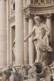喷泉trevi 库存照片