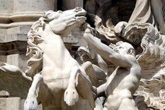喷泉trevi 免版税库存照片