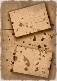 喷溅的明信片拼贴画 库存图片