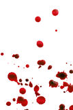 喷溅的血液 免版税库存照片