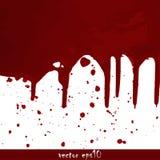 喷溅的血迹 图库摄影