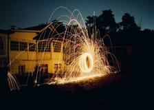 喷洒的火 库存照片