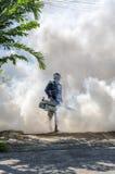喷洒的蚊子放水剂 图库摄影
