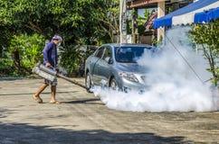 喷洒的蚊子放水剂 免版税库存照片