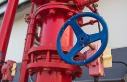 水喷水隆头火系统 免版税库存图片