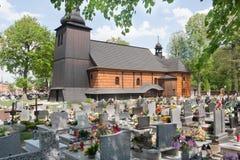 嗜好的教会致力三位一体在KoszÄ™cin 免版税库存图片