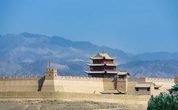嘉峪关城堡 库存照片