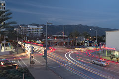 嘉兴南湖商业区在帕萨迪纳 库存照片
