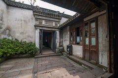 嘉兴Wuzhen住宅的东关 免版税库存图片