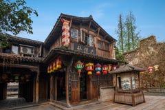 嘉兴Wuzhen西部门车道 库存照片
