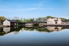 嘉兴Wuzhen Xigaze水剧院 免版税库存照片