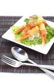 嘎吱咬嚼的油煎的蟹腿开胃菜 免版税库存照片