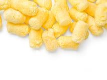 嘎吱咬嚼的玉米快餐 库存图片