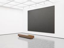 嘲笑与黑色的空的画廊内部 库存照片