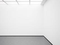 嘲笑白色画廊 3d回报 免版税图库摄影